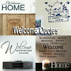 Welcome Home Quote Wall Stickers! Transfer Graphic Decal Decor Stencil Hallway
