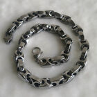 6/9mm classic bike chain men/women hi-tech scratch proof tungsten necklace