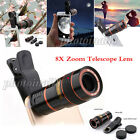 US 8X Zoom Optical Clip-on HD Telescope Phone Camera Lens For Most...