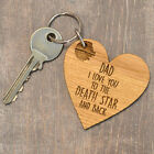 Dad I Love You To The Death Star And Back Fathers Day Love Heart Keyring Gift