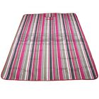 PBLK-02 Red/Pink striped, folding mat/blanket for picnic, camping or the beach