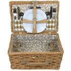 ZQ1-2158 Wicker picnic basket for 4 people