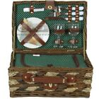 ZQ1-3610 Fashionable Wicker Picnic Basket for 2 People with Cooler