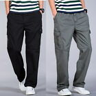 2017 Big Mens Cargo Pants Straight Relaxed Summer Casual Trousers Size w34 - w46