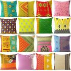"18"" Colorful Kantha Decorative Throw Couch Pillow Cushion Cover Boho Bohemian In"