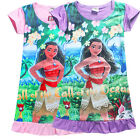 NEW Girls Pyjamas cartoon Moana nightie  princess Dress 3Yrs-8Yrs