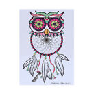 Colorful Drawing Temporary Tattoo Owl Decal Waterproof Body Art Stickers Unisex