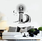 Vinyl Wall Decal Lighthouse Wave Sea Ocean Style Moon Stickers (1398ig)
