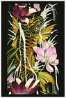 Solo Run Colorful Asian Koi Flowers Fine Art Print Cody Meyers Custom Lithograph