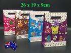 Bulk Lot Paper Gift Bags Carry Bag Silver Glossy Wedding Party Favor Lolly Bag