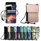 Neck Pouch PU Leather Travel Passport Holder ID Cards Cash Wallet Cellphone Bag