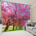3D Tree road 2 Blockout Photo Curtain Printing Curtains Drapes Fabric Window US