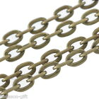 Wholesale Lots  Bronze Tone Flat Link-Opened Chains 4x3mm
