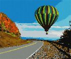 Hot Air Balloon Over Highway Needlepoint Kit or Canvas