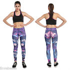Womens Gym Fitness Leggings Capris Running Sports Yoga Colorful Ninth-Pants