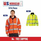 Внешний вид - Hi Vis Fleece Jacket, Safety Lined Warm, ANSI Class 3 Reflective, Portwest UF300