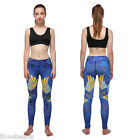 Womens Hollowed Breathable Leggings Capris Pants Fitness Yoga Sports Trousers