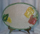 DECORATIVE CERAMIC PLATE OMNIBUS 1993  BASKET PATTERN HAND PAINTED PHILIPPINES