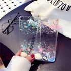 For iPhone 5/6S/7 Plus Bling PEARL Tassel Glitter Crystal Cute Sparkly TPU Cover
