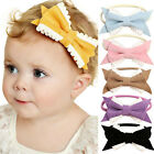 Cute Baby Bowknot Elastic Infant Kids Girl Solid Color Hairband Phtography Props