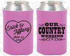 Personalized Wedding Coolies Custom Coolie Item (84) Country Wedding Favors
