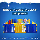 Baby Toddler Child Sided Plastic Playpen multi panel Safety Gate 8/10/12 panels