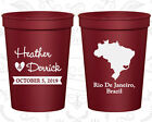 Personalized Wedding Favor Cups Custom Cup Gifts (164) Brazil Wedding Favors