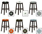 "MIAMI DOLPHINS 24"" & 28"" ESPRESSO WOOD METAL BAR MAN CAVE SHE SHED BAR STOOL"