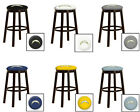 "CHARGERS WHITE NFL 24"" & 28"" ESPRESSO WOOD METAL MAN CAVE SHE SHED BAR STOOL"