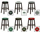 "NEW YORK JETS NFL 24"" & 28"" ESPRESSO WOOD METAL GAME ROOM MAN SHE CAVE BAR STOOL"