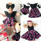 Kids Baby Girls Outfits Little Big Sister Matching Clothes Romper Bodysuit Dress