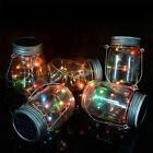 LED Fairy Light 1 Pack Solar Mason Jar Lid Lights Color Changing Garden Decor