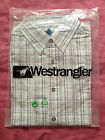 NEW***WEST RIDER® MENS Short Sleeve Check Shirt***White/Grey***Size L or XL