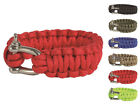Mil-Tec Paracord Armband Survival Outdoor Metallverschluss 22mm x 17-26cm