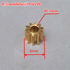 Metal Copper Gear 5mm 6mm 9mm Diameter 8/10/16 Teeth Motor Transmission Gear