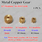 Внешний вид - Metal Copper Gear 5mm 6mm 9mm Diameter 8/10/16 Teeth Motor Transmission Gear