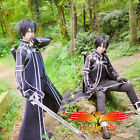 Sword Art Online Kazuto Kirigaya cosplay costume+boots+wig   (Optional)