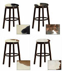 "AUTHENTIC COWHIDE  24"" & 28"" ESPRESSO WOOD METAL BAR STOOL GAME ROOM MAN CAVE"