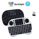 New Rii i8+ 2.4GHz Mini Portable LED Backlight Wireless Keyboard with Touchpad