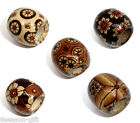 Wholesale Lots Mixed Painted Drum Wood Spacer Beads 17x16mm
