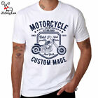Motorcycle Printed T Shirt Man Cotton Short Sleeve Casual o-neck Men T-shirts