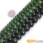 """Natural Grade AAA Green Diopside Gemstone Round Beads For Jewelry Making 15"""" YB"""
