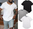 Fashion Print Men's Slim Sport Fit T-Shirts Short Sleeve Casual Tops Blouse New