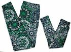 Внешний вид - Mommy And Me Leggings Paisley Floral Print Green Blue One Plus Size Girls