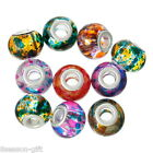 Wholesale Glass European Beads Fit Charm Bracelets Round Ball Mixed 14mmx11mm