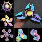 Tri Fidget Hand Spinner Triangle Rainbow Metal Color Finger Toy EDC Focus ADHD