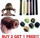 Glamza Women&#039;s Magic Hair Bun Snap Styling Donut Former French Twist Band Maker <br/> ✌✌  UK SELLER  ✅  HIGH QUALITY  ✅  FAST POSTAGE  ✌✌