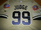 Brand New GRAY! New York Yankees #99 Aaron Judge Majestic Dual Patch sewn Jersey