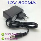 AC charger Converter Adapter DC 12V 500mA  Power Supply 5.5 x 2.1  5.5*2.5 MM  s