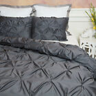Pintuck Egyptian Cotton DUVET COVER Set Choice of Size & Colors